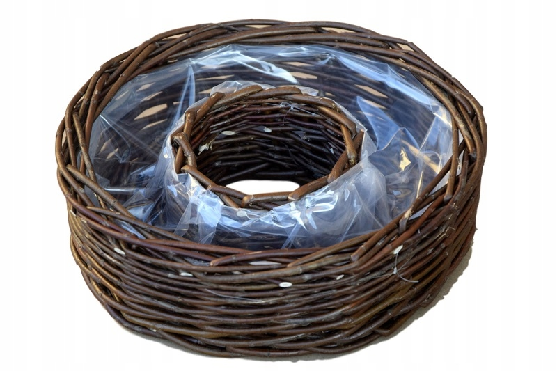 Купить Большой корзина плетеная цветочный ГОРШОК wiklinowa КРЫШКА 30 см на Otpravka - цены и фото - доставка из Польши и стран Европы в Украину.