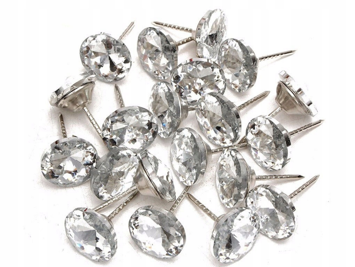 ГВОЗДИ TAPICERSKIE PINEZKI кристаллы 20-частицы ШТ-ХИТ!