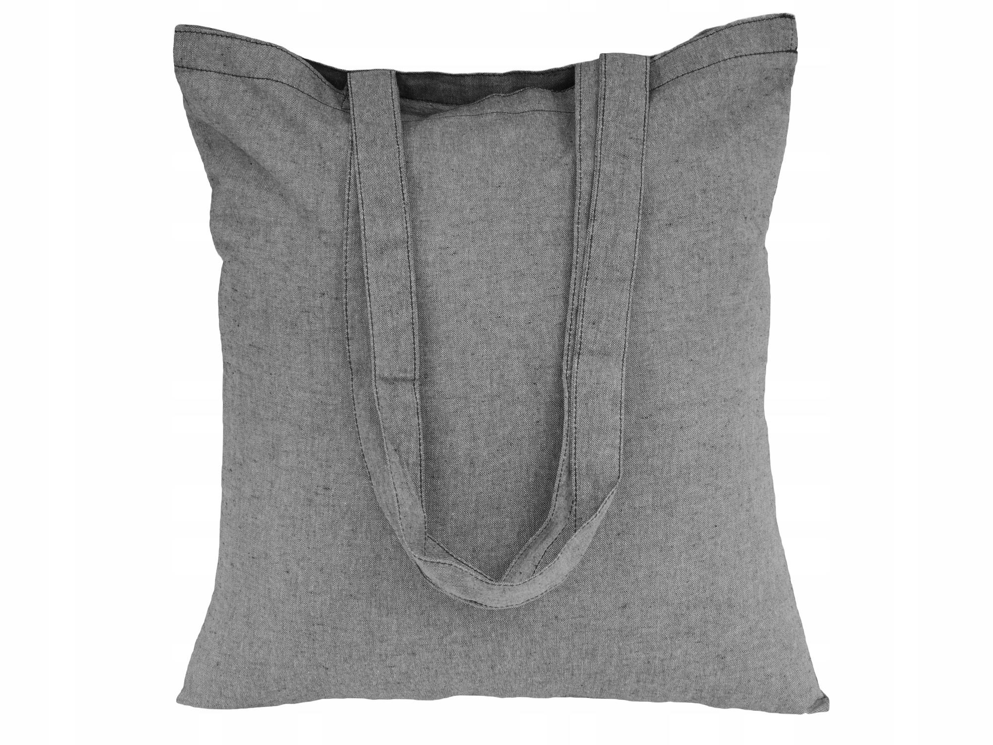 Item Bag cotton Bag Eco 38x42 Black melange