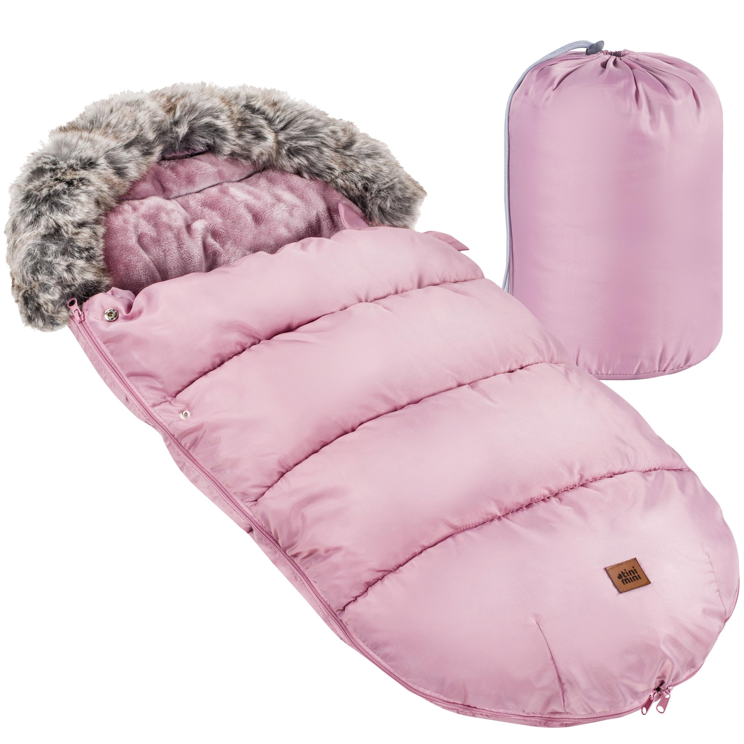 Спальный мешок для саней TiniMini с мехом