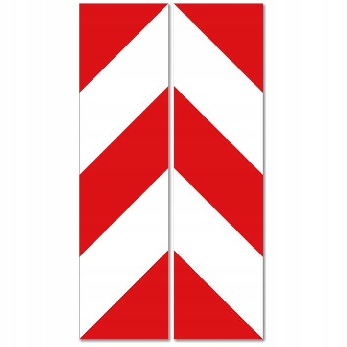 ПРЕДУПРЕЖДАЮЩИЕ НАКЛЕЙКИ-ПОЛОСЫ белый и красный 13x49см