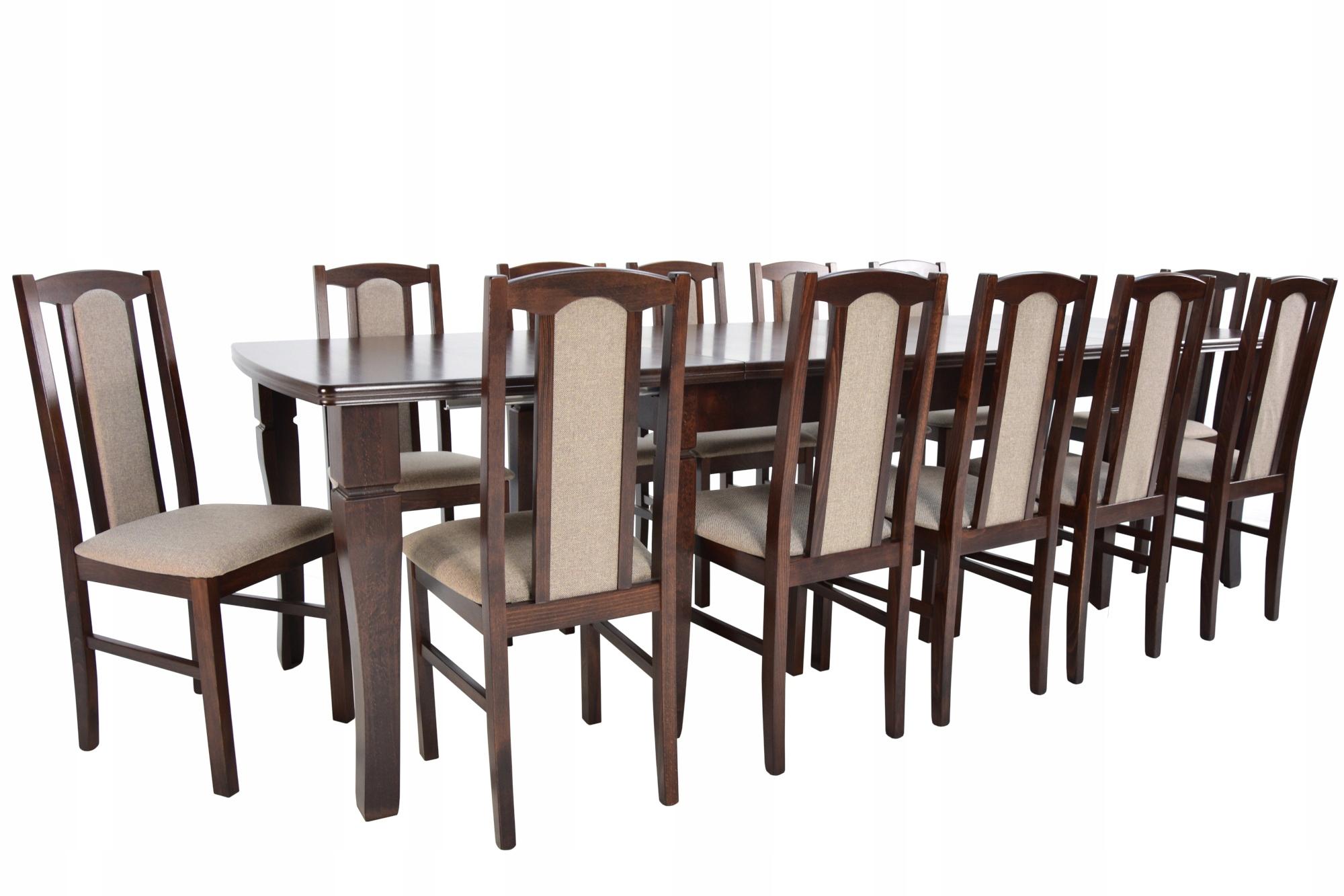 4m skladací stôl a stoličky 12 Ks drevených