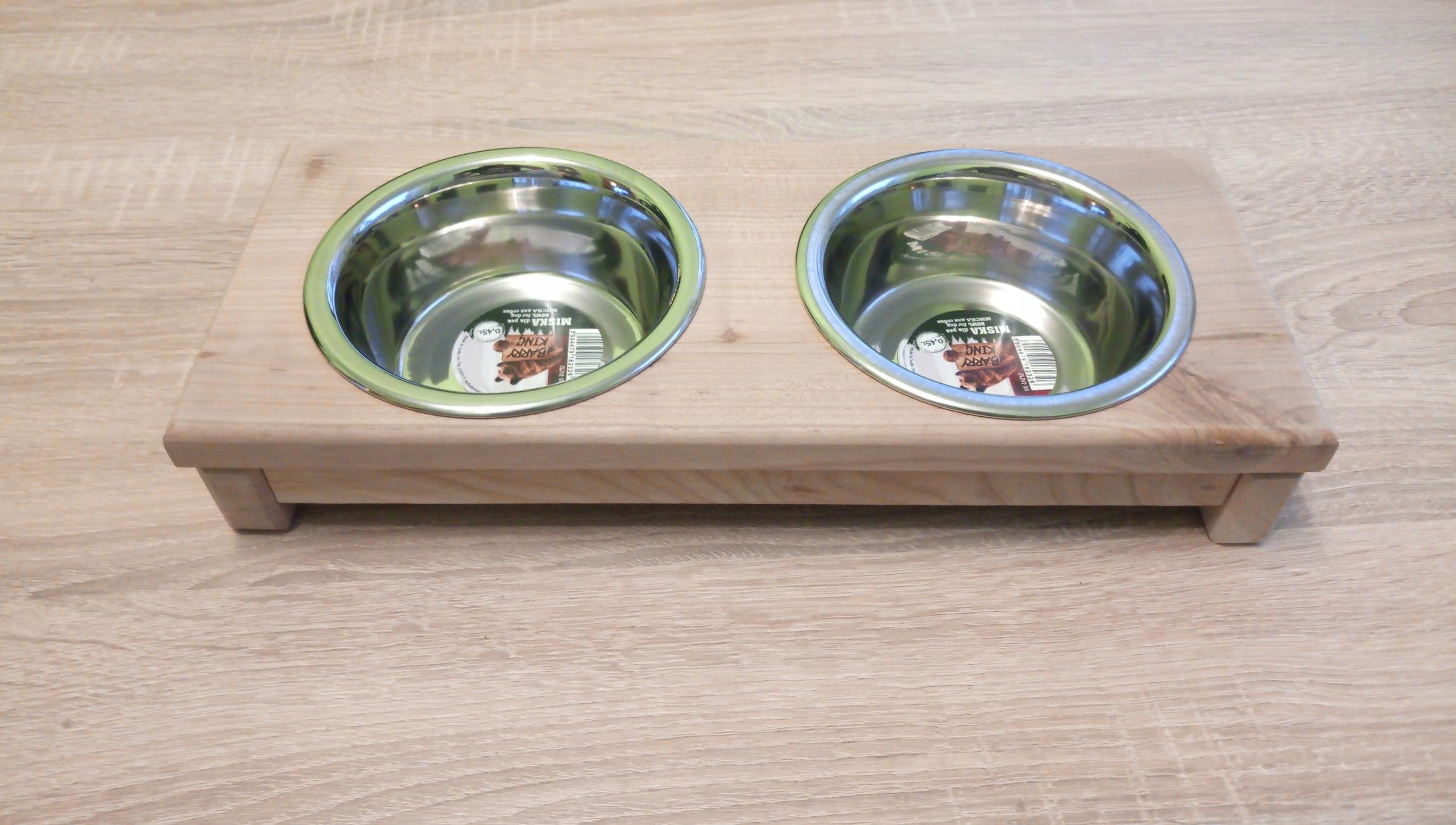 Подставка для миски для собак или кошек из дерева
