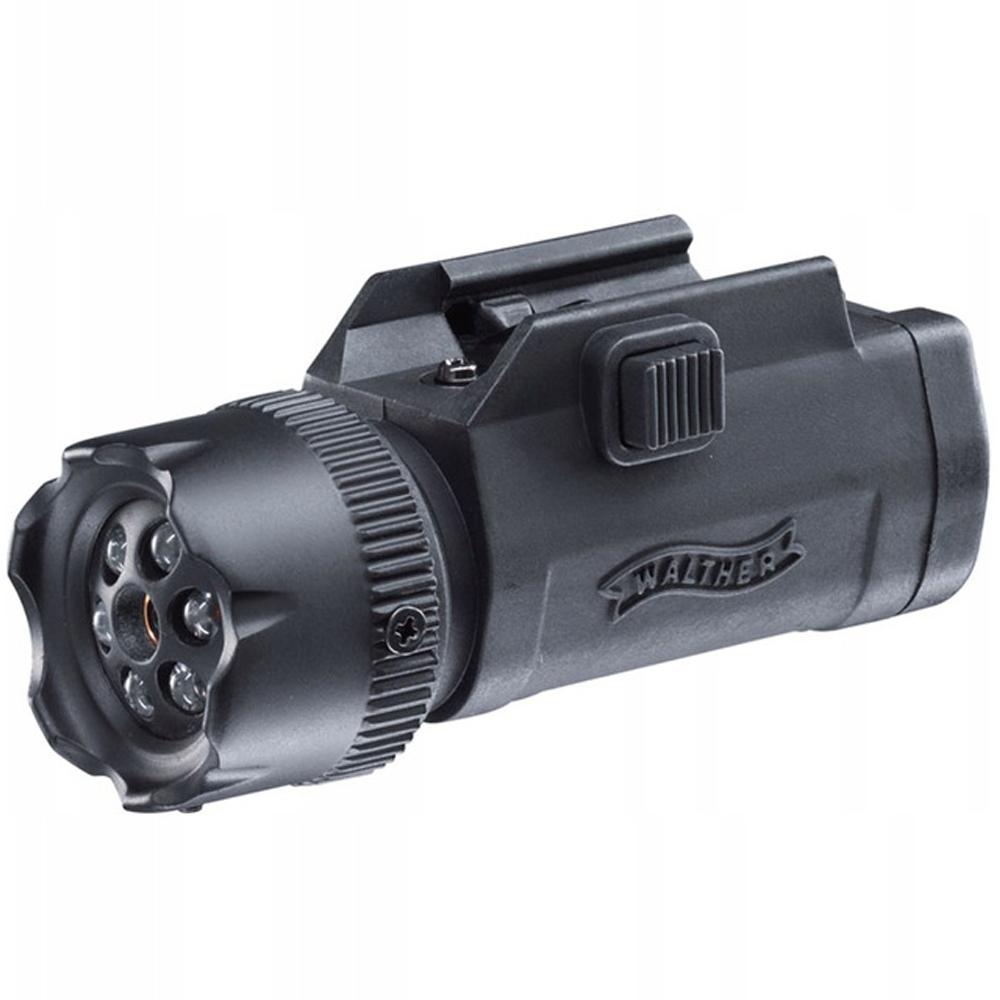 Laserový zameriavač led baterka Walther FLR650