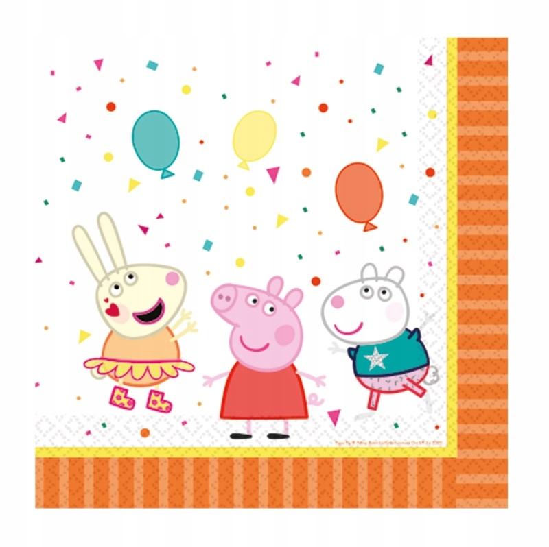 Салфетки бумажные Свинка Пеппа - 16 штук - 33 х 33 см