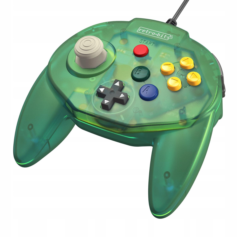 Retro-bit Tribute 64 Green Gamepad Premium 24H