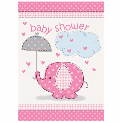 Baby sprcha Pozvánka 8 ks. Ružová dievčina