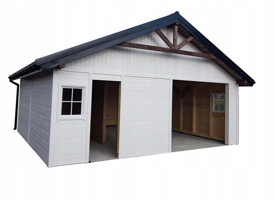 Garaż drewniany bez pozwolenia, blachodachówka,