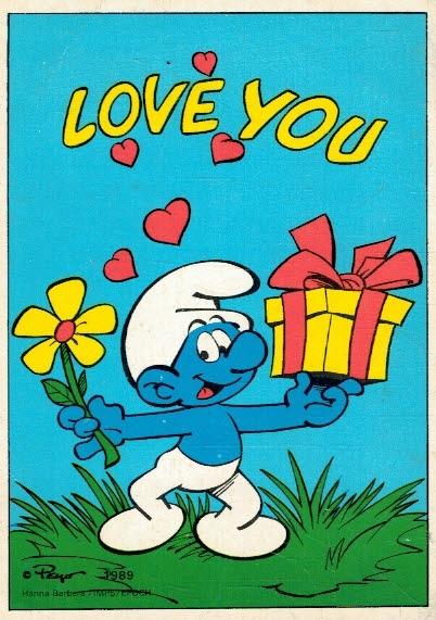 Купить Открытка Smurfy Love You на Otpravka - цены и фото - доставка из Польши и стран Европы в Украину.