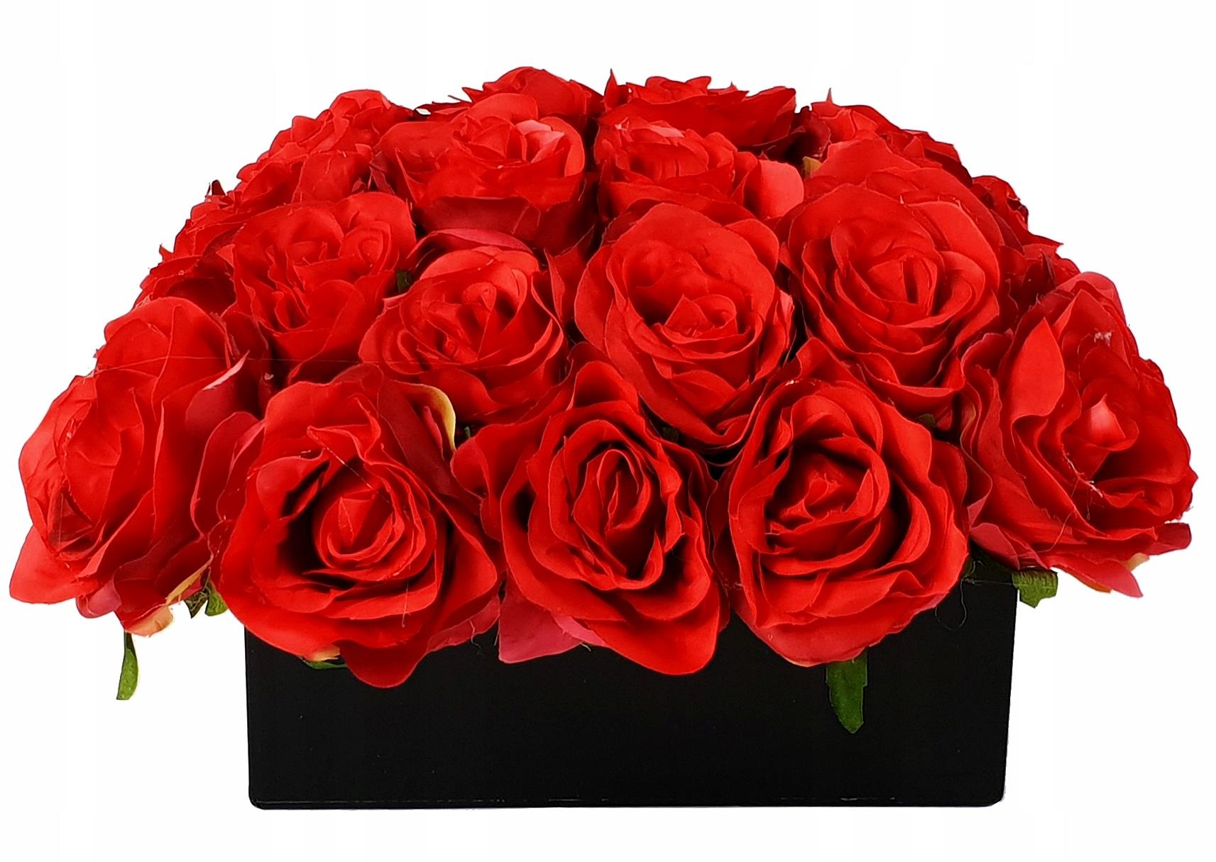 Flower box PUDEŁKO z kwiatami róże flowerbox
