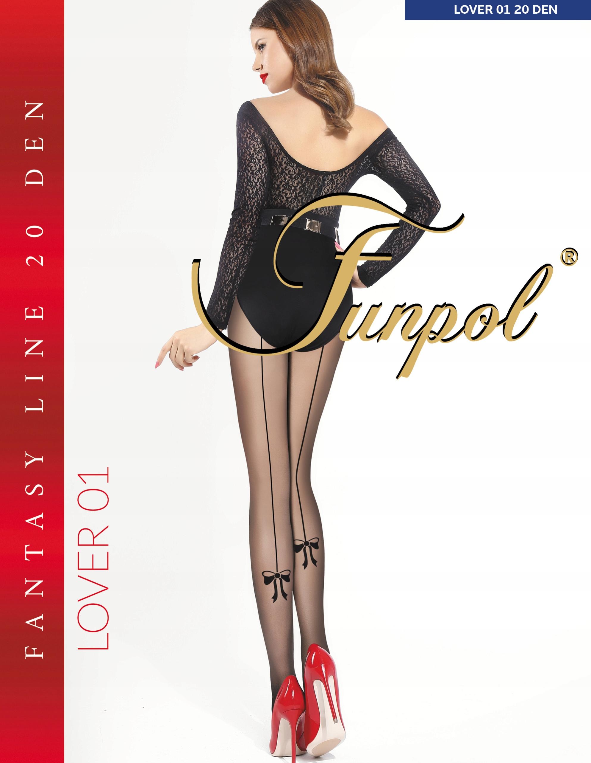 Sexy Rajstopy Fun-pol wzór Lover 01, 20 den 2/M