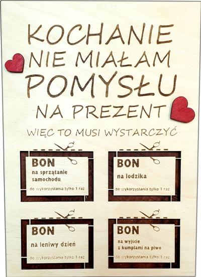 Bon Dla Niego Niej Walentynki Prezent Dyplom 8886072931 Allegro Pl