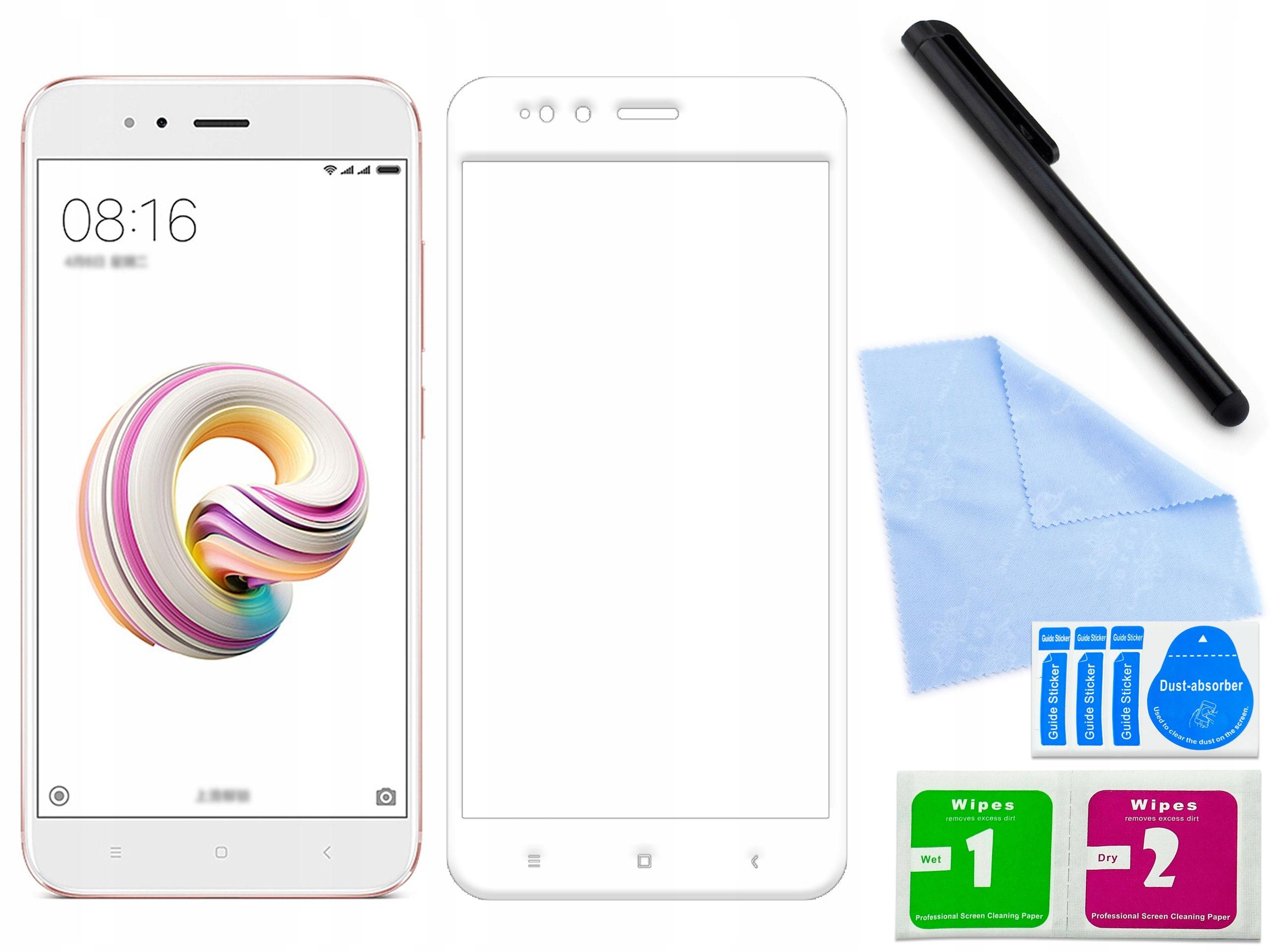 Szkło ochronne 3D 9H Xiaomi Xiaomi Mi 5X Białe