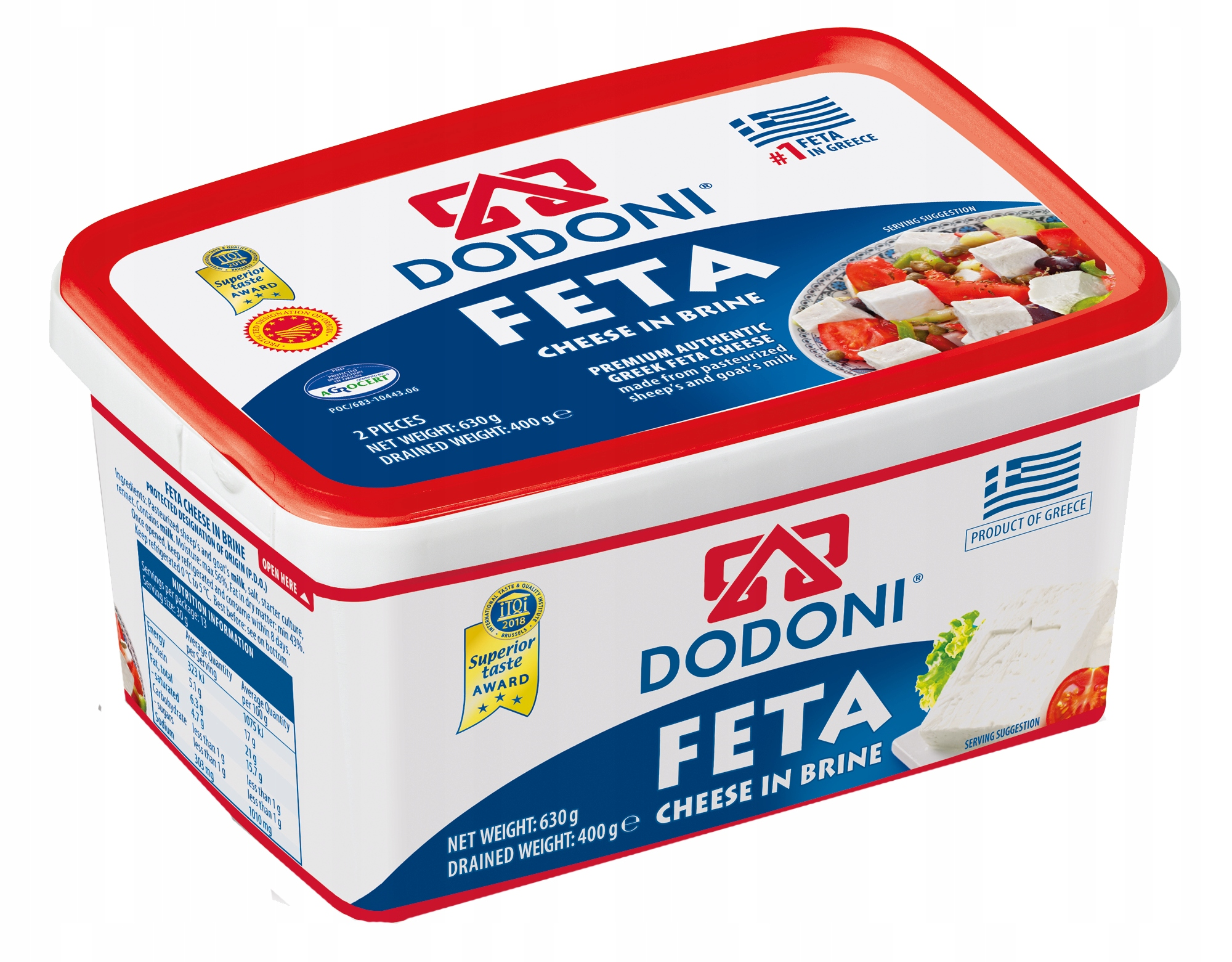 (DP) FETA 400G DODONI DOP
