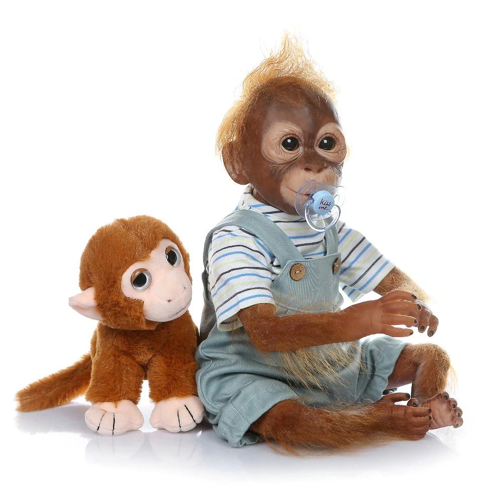 Nová bábika Monkey NPK 52 cm Reborn výška PL