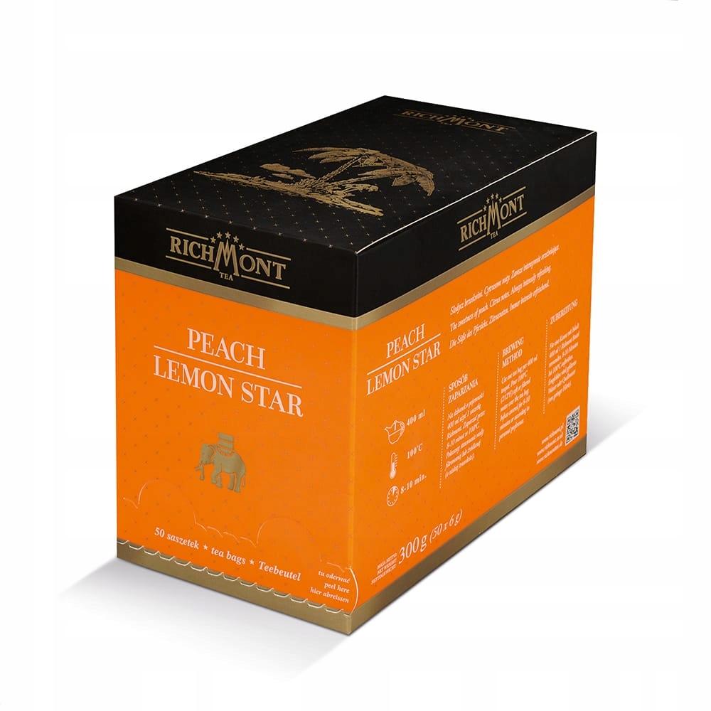 Čaj RICHMONT Broskyňa Citrón Star 50 tašky
