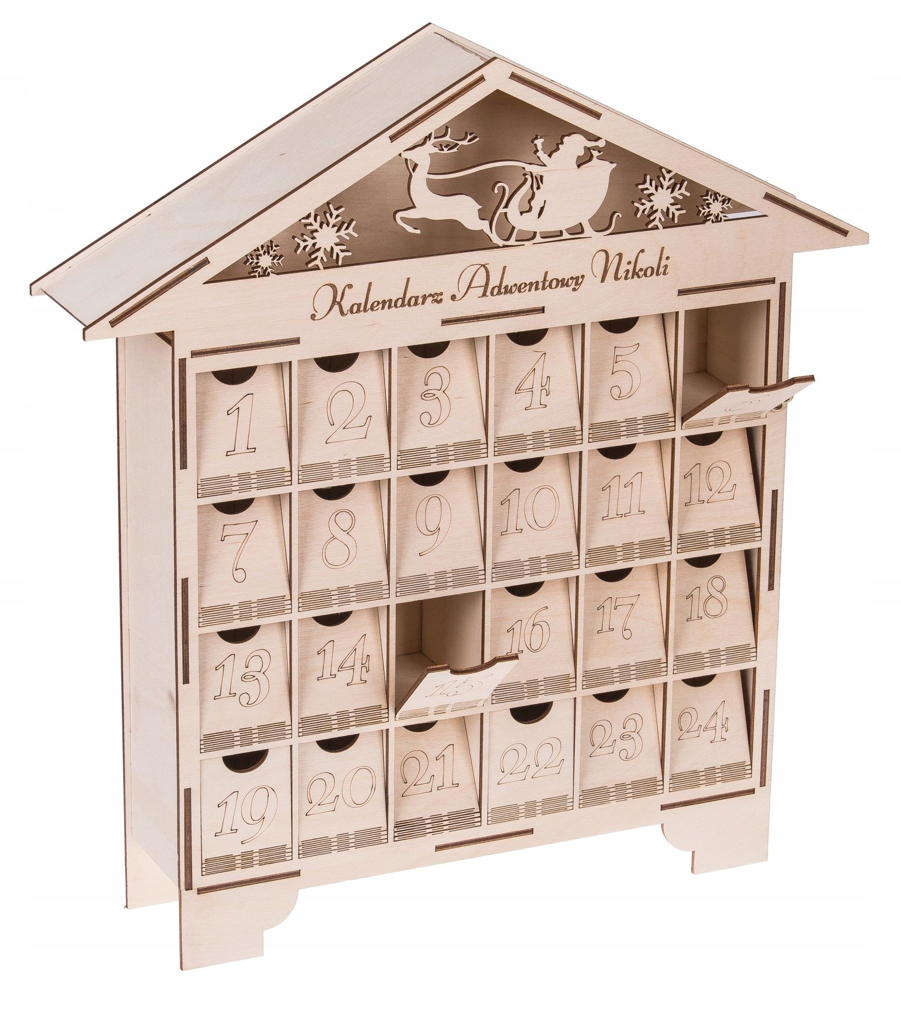 ADVENT CALENDAR деревянный дом для праздников !!!