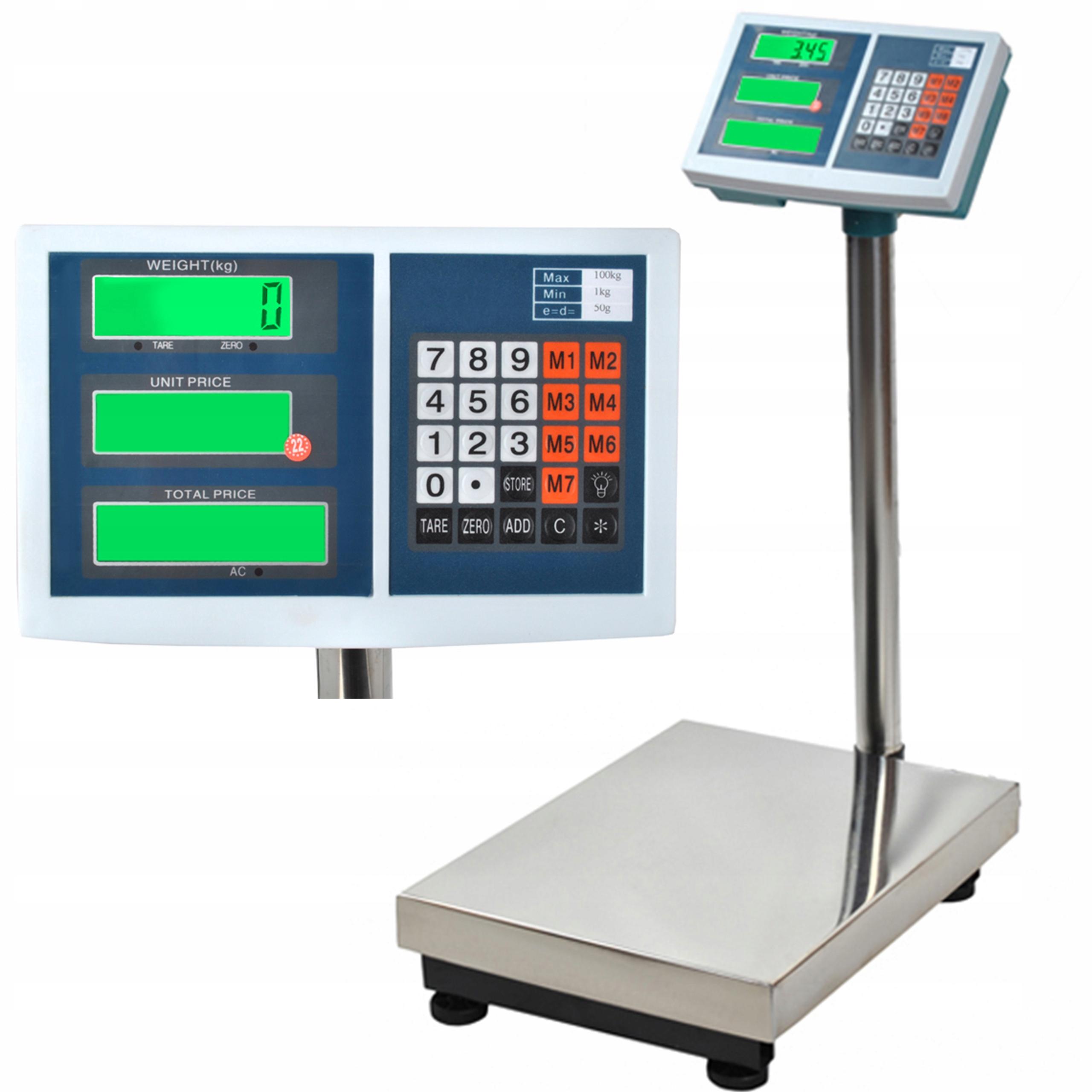 Электронный магазин весов 100кг LCD
