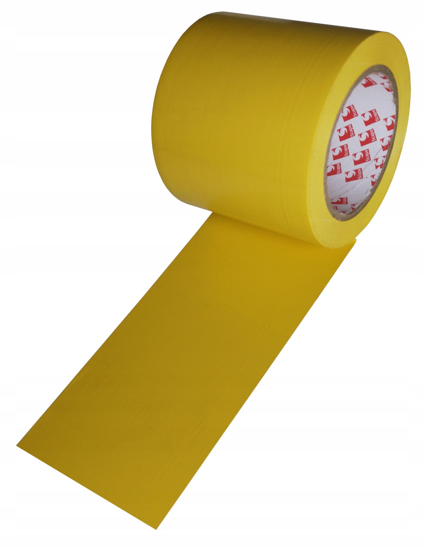 Лента маркировочная Scapa type 2721 100мм / 33м желтая