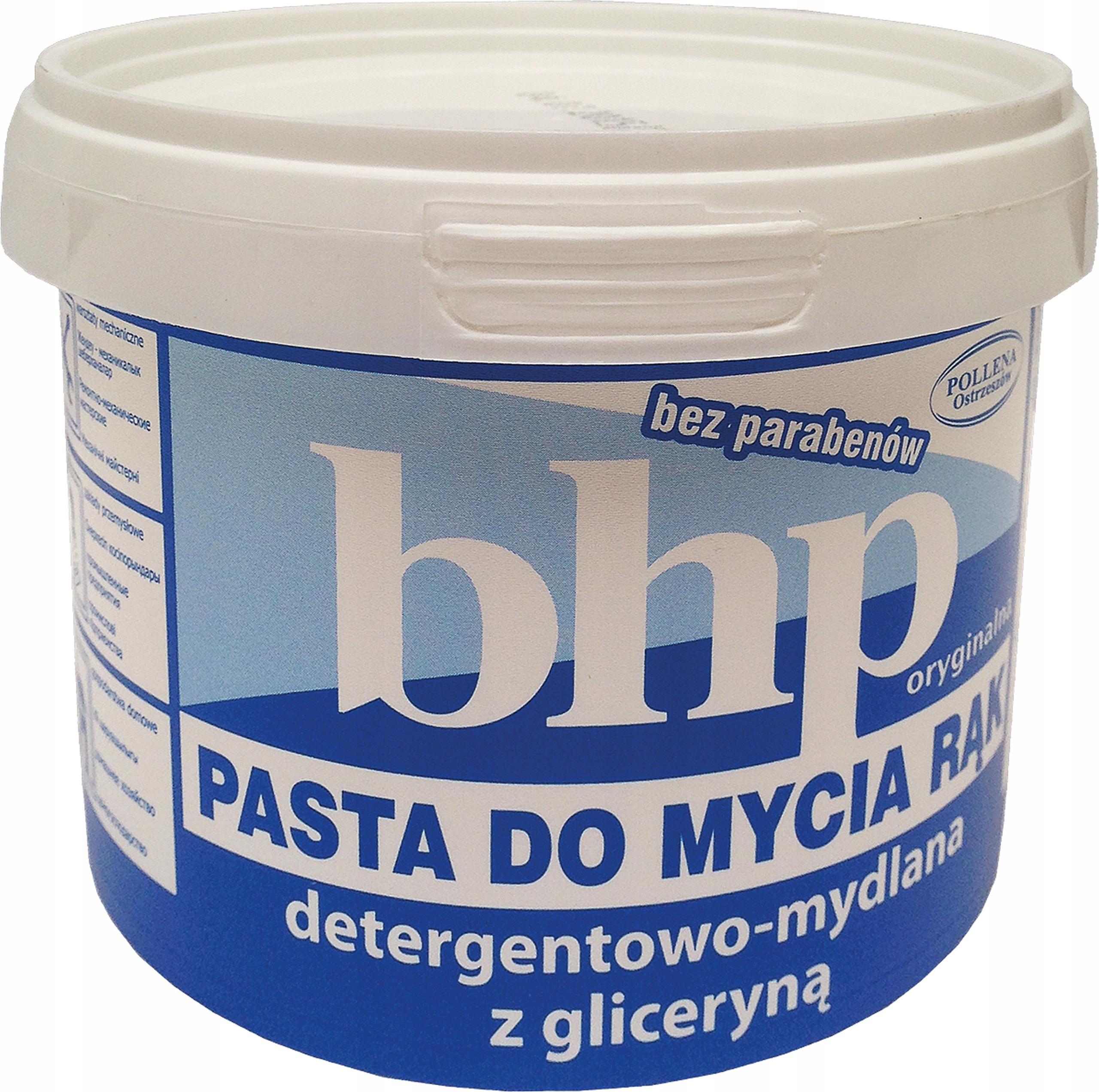 Pasta BHP do mycia rąk z gliceryną 500 g ochronna