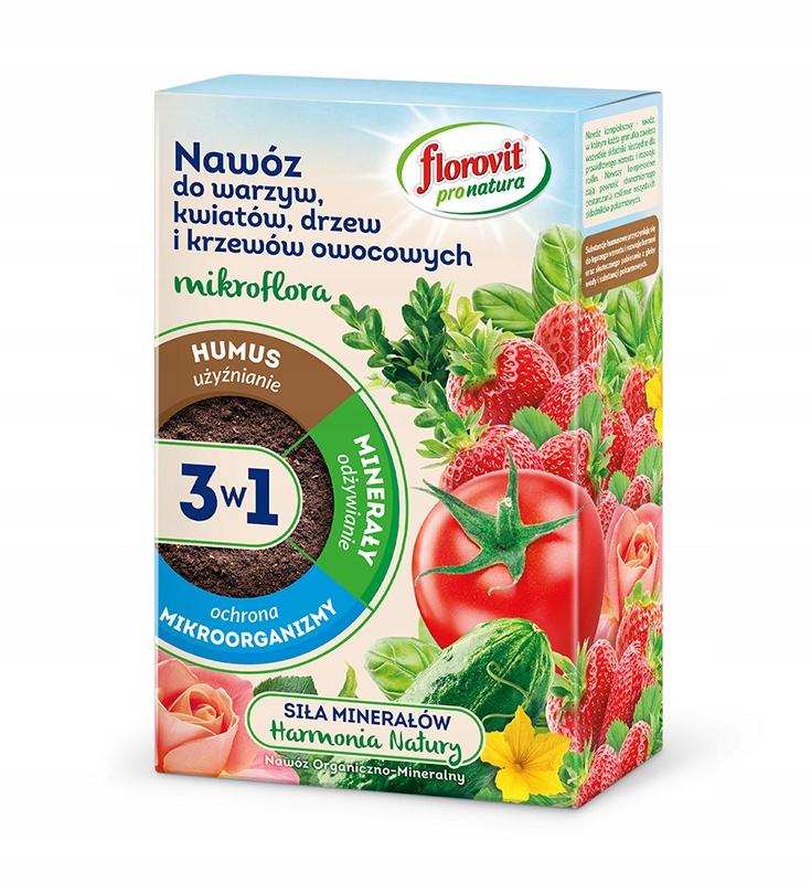 ФЛОРОВИТ Микрофлора 3in1 удобрение овощей, цветов, деревьев