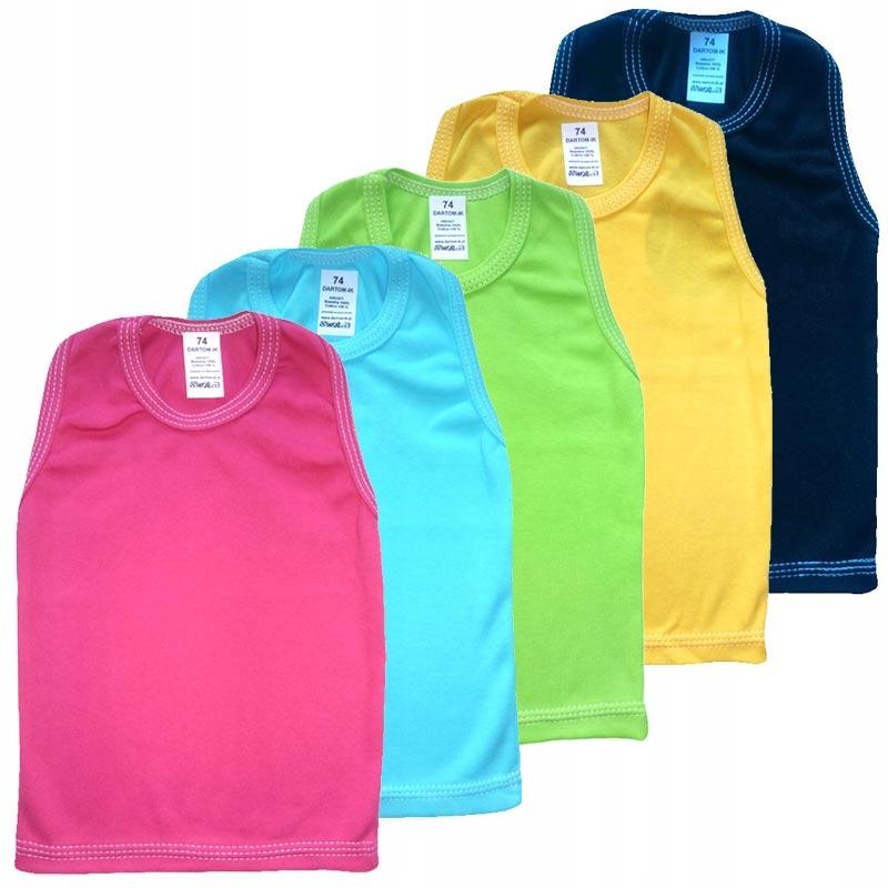 T-tričko bez rękawków t-shirt 5 Ks R. 104