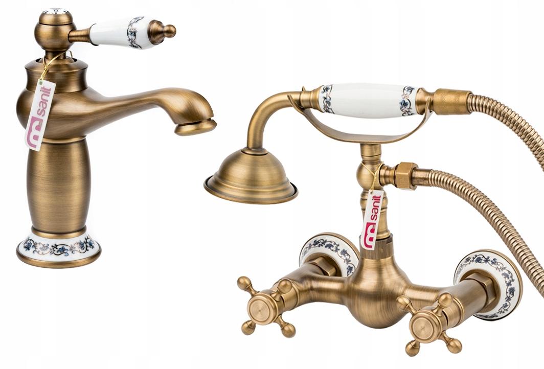 RETRO na amalgamator pre umývadlo sprchový starého zlata