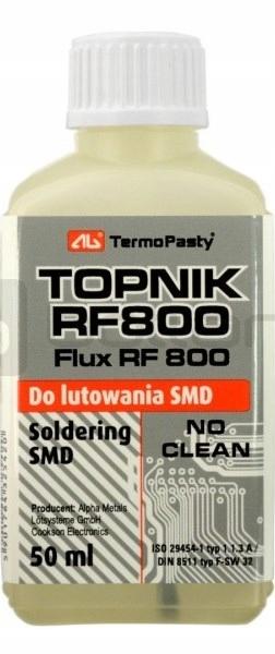 Флюс RF800 SMD 50 мл Пайка с кисточкой FLUX