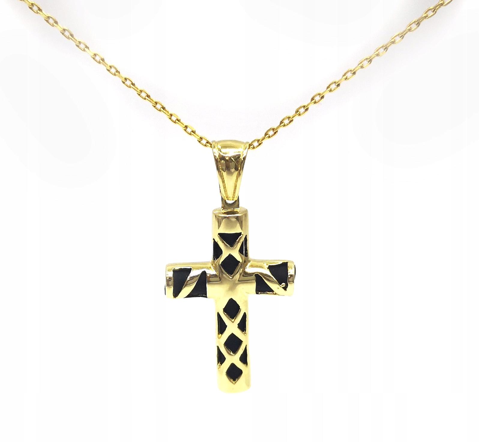 Zlatý prívesok kríž 585 3.52 g K