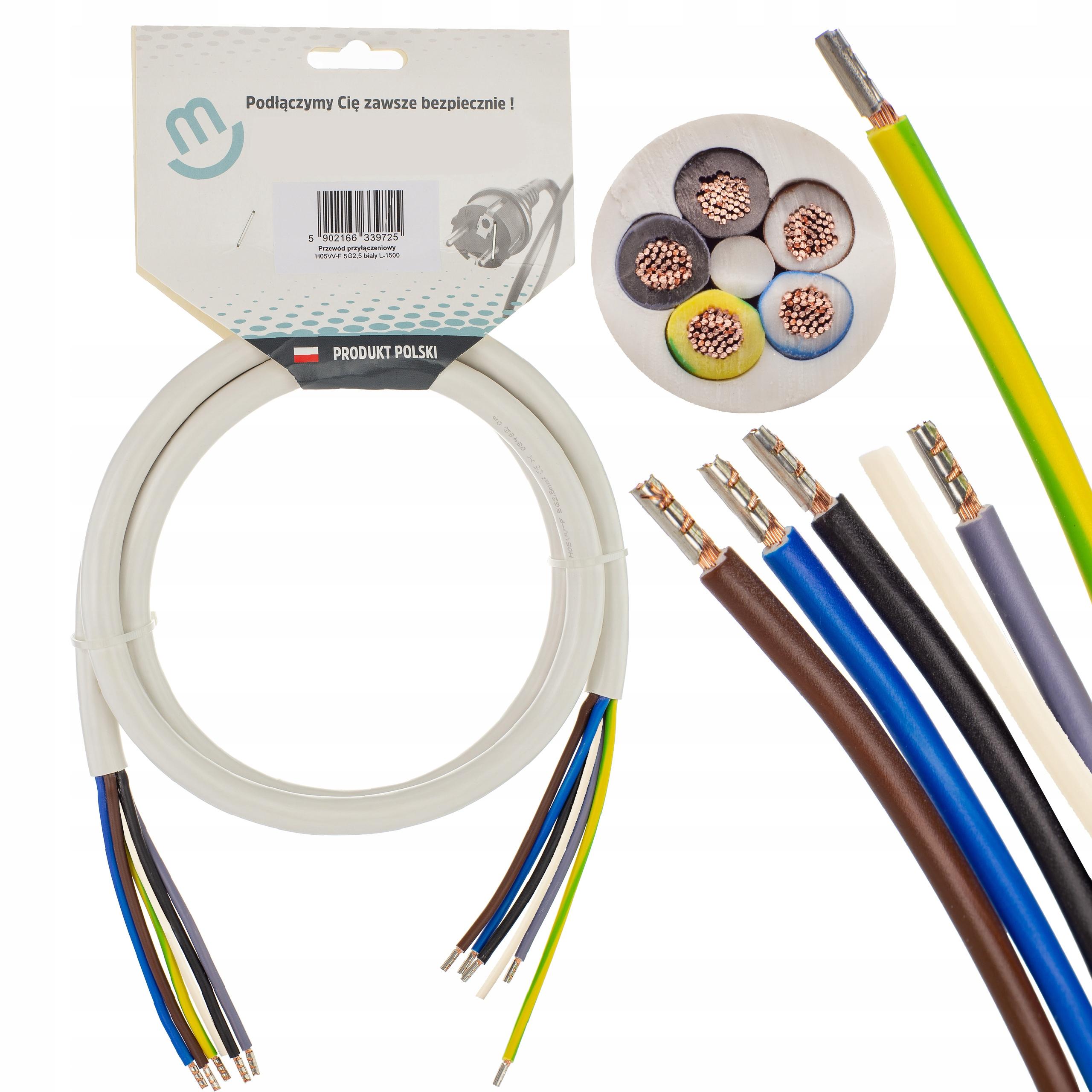 Kabel zasilający płyty indukcyjnej kuchenki 1,5m