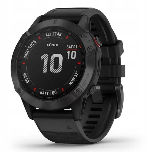 NEW Garmin Fenix ​​6 Pro Black с черной полосой