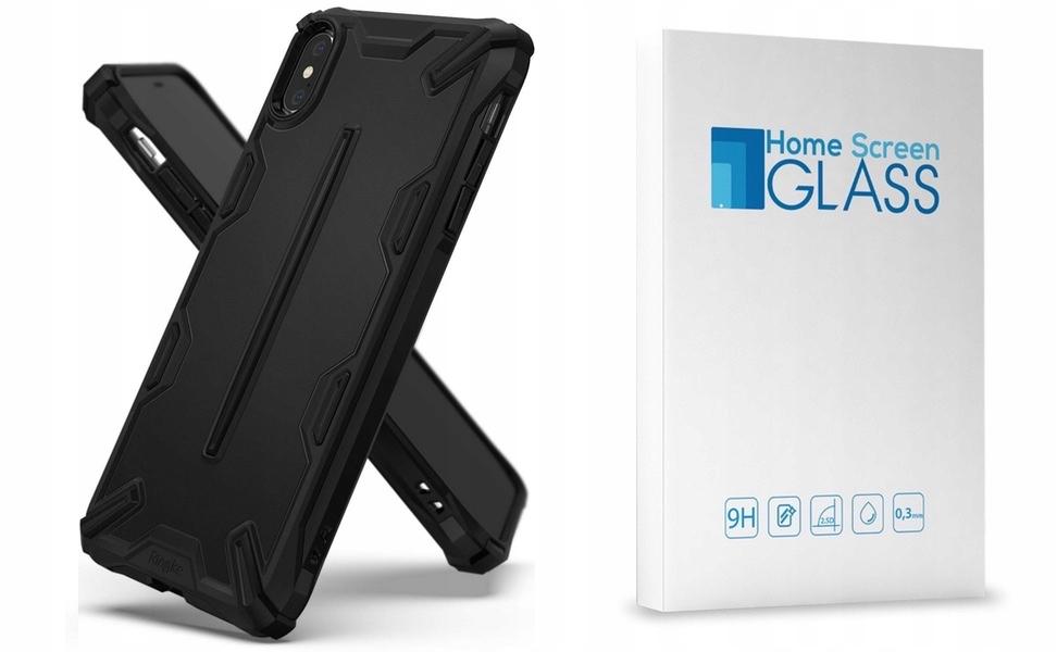 Etui Do Iphone Xs Max 6,5 Ringke Dual-x + Szkło Hs