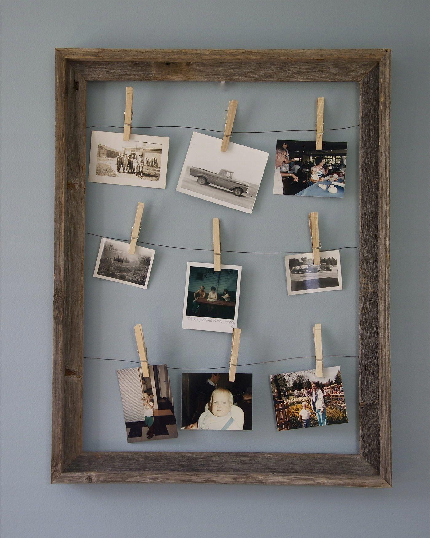 рамка для фото с прищепками