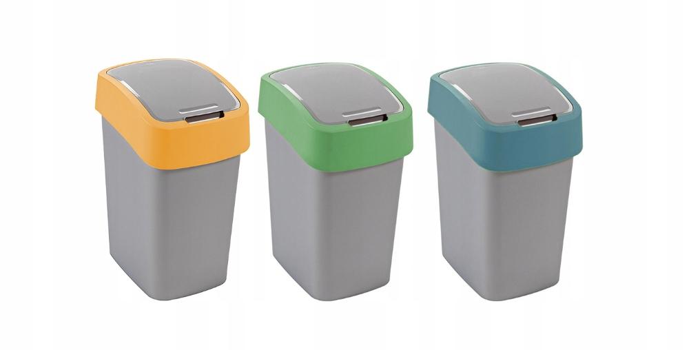 CURVER набор корзин 3x10 для сортировки мусора