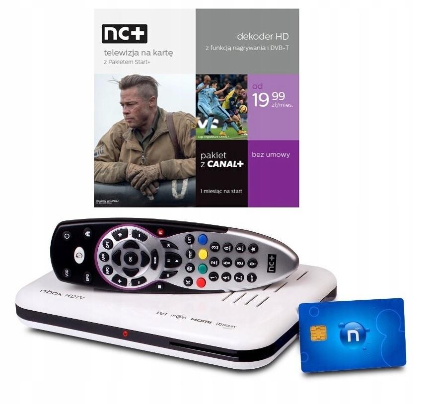 Тюнер Декодер Телевидение с NC + Start + Combo card