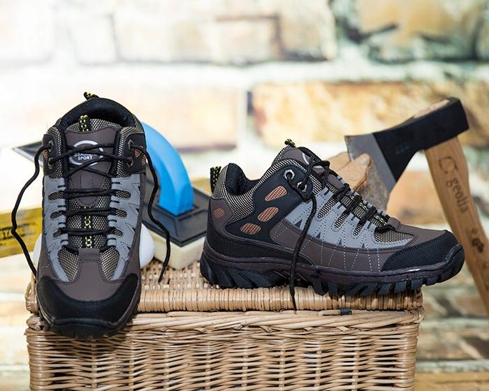 SSAM Buty Adidasy Szyte w góry Trekkingowe Robocze Kolor brązowy