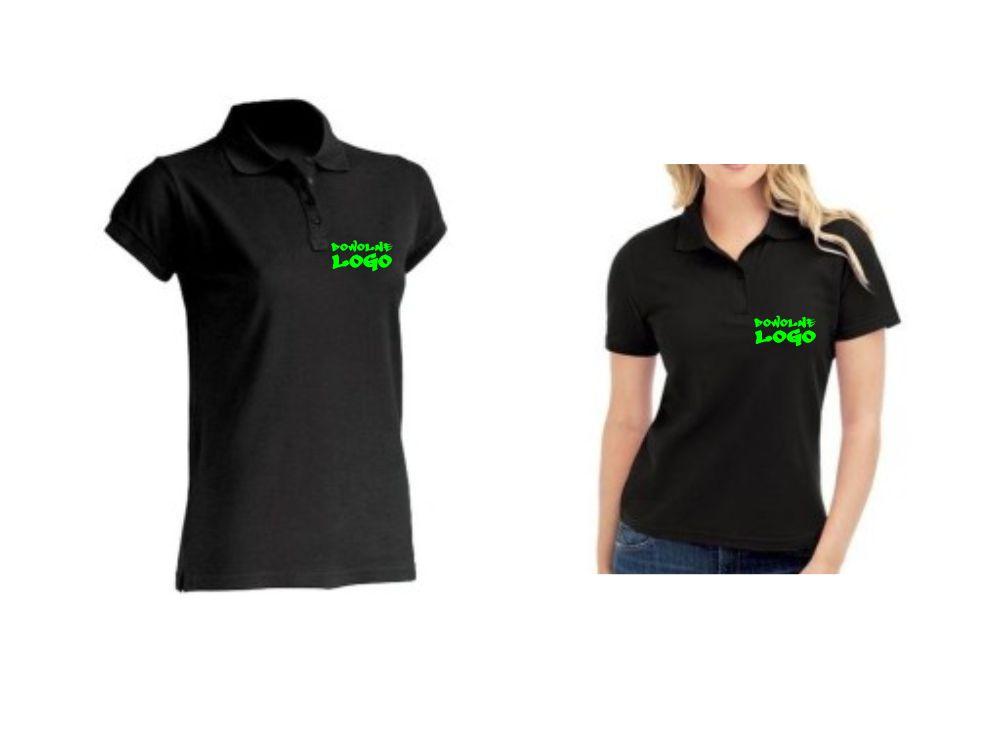 koszulka POLO damskie z WŁASNYM NADRUKIEM LOGO HIT