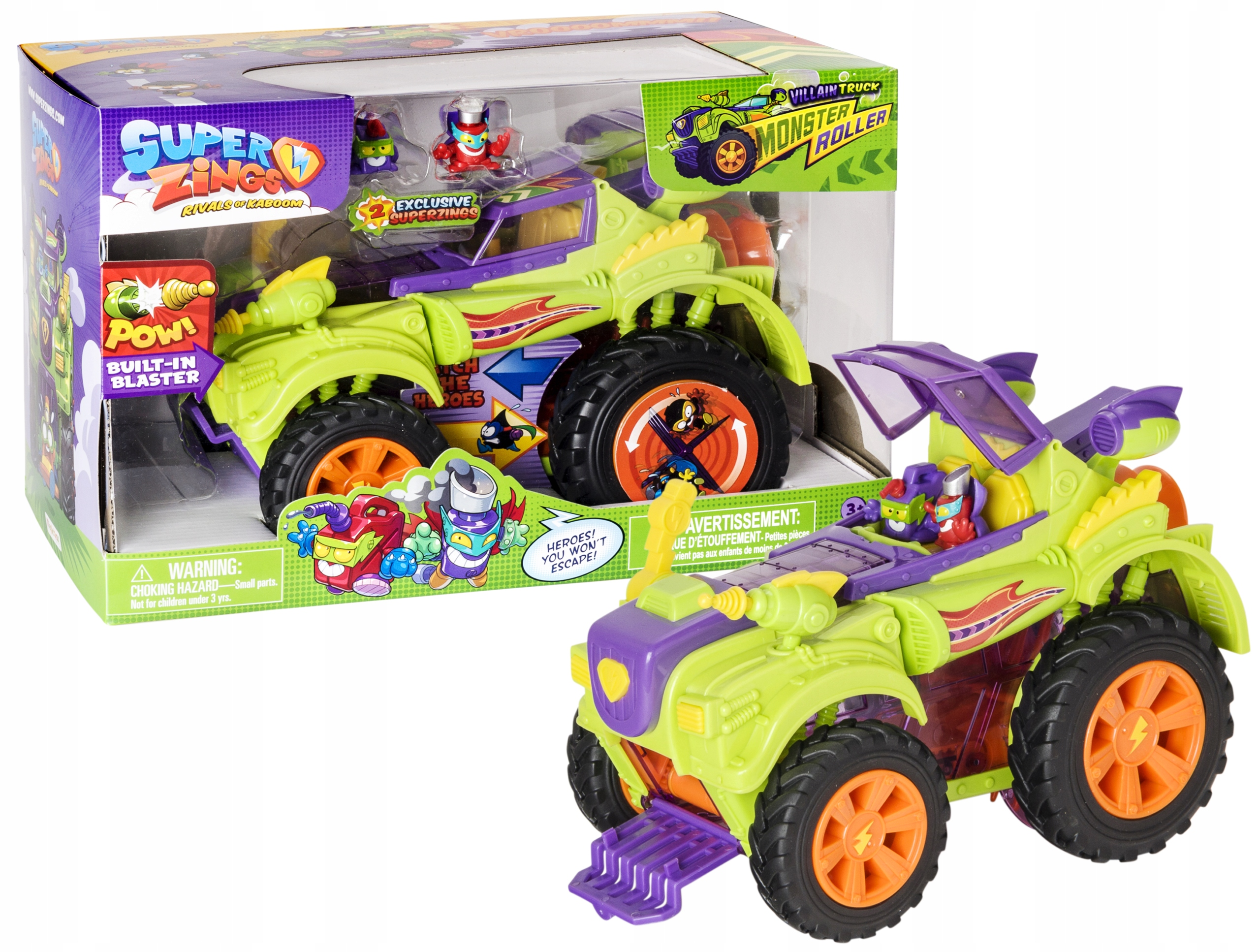 Superzings VOZIDLA VILLAIN TRUCK MONSTER ROLLER