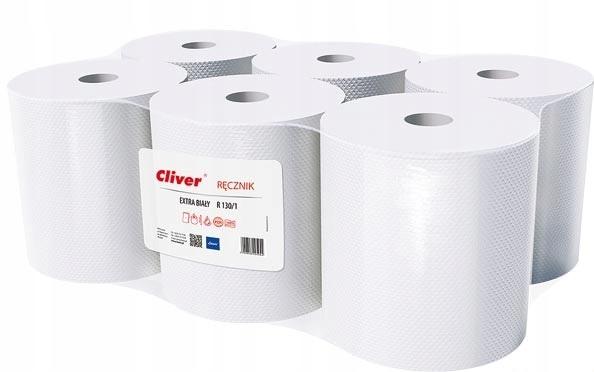 Полотенца однослойные бумажные 6 рулонов по 130