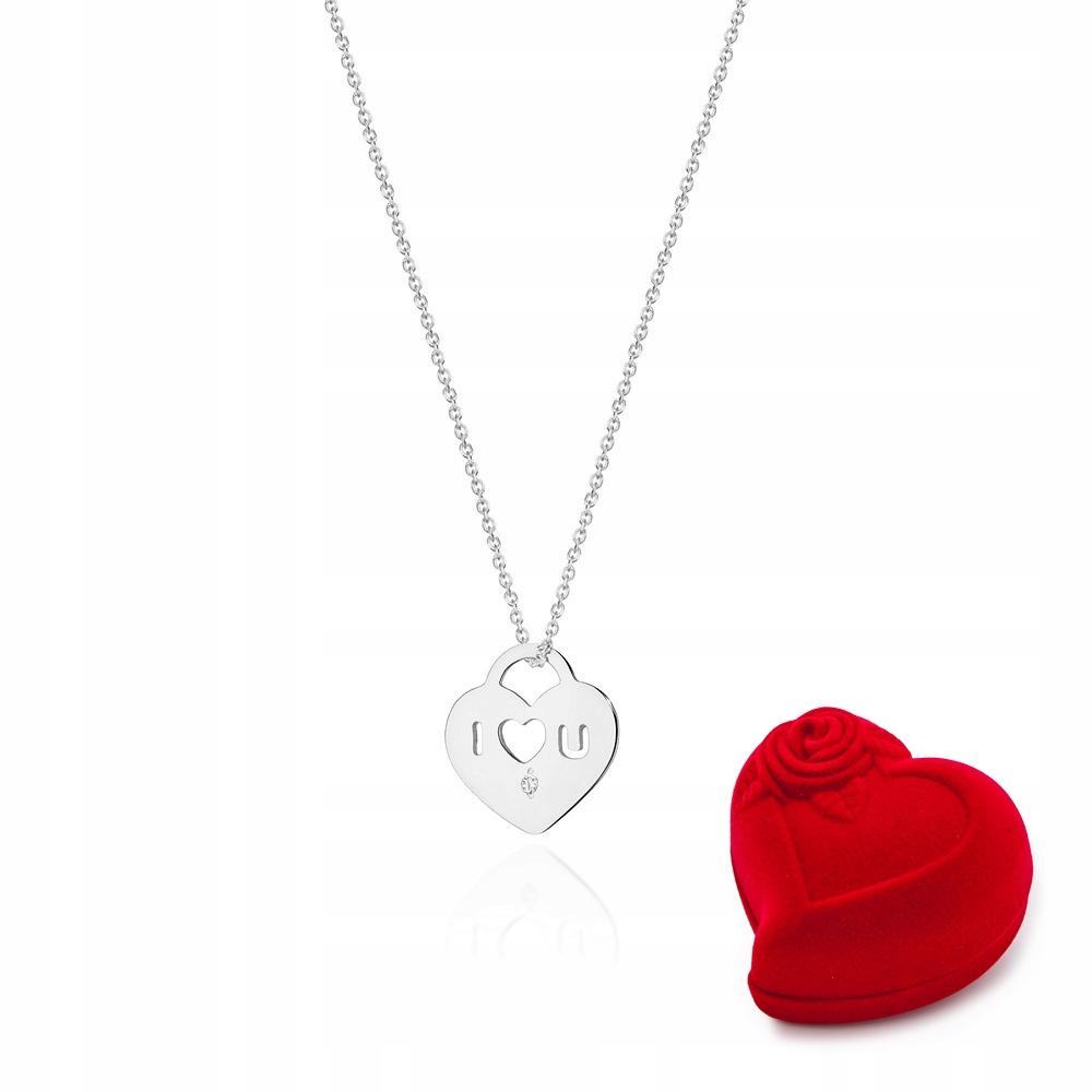 Celebrytka Náhrdelník Srdce Diamanty C-11