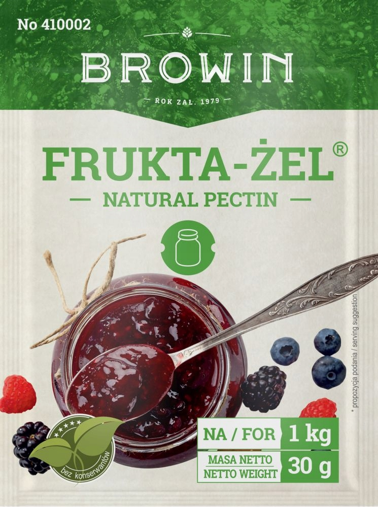 Item FRUKTA GEL JAMS-JAM, NATURAL PECTIN