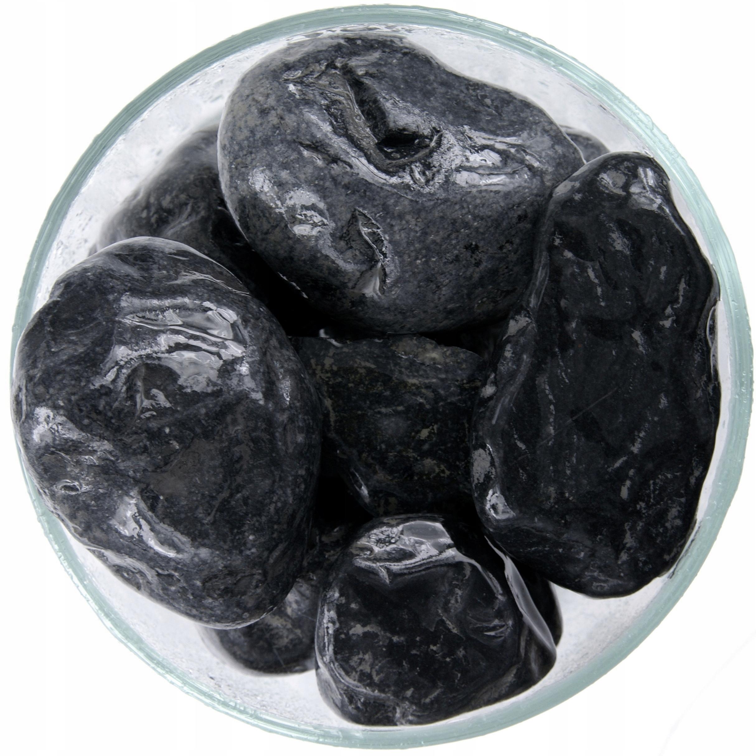Nero Black kamienkové 40-60 mm Kameň Akvárium 30 kg