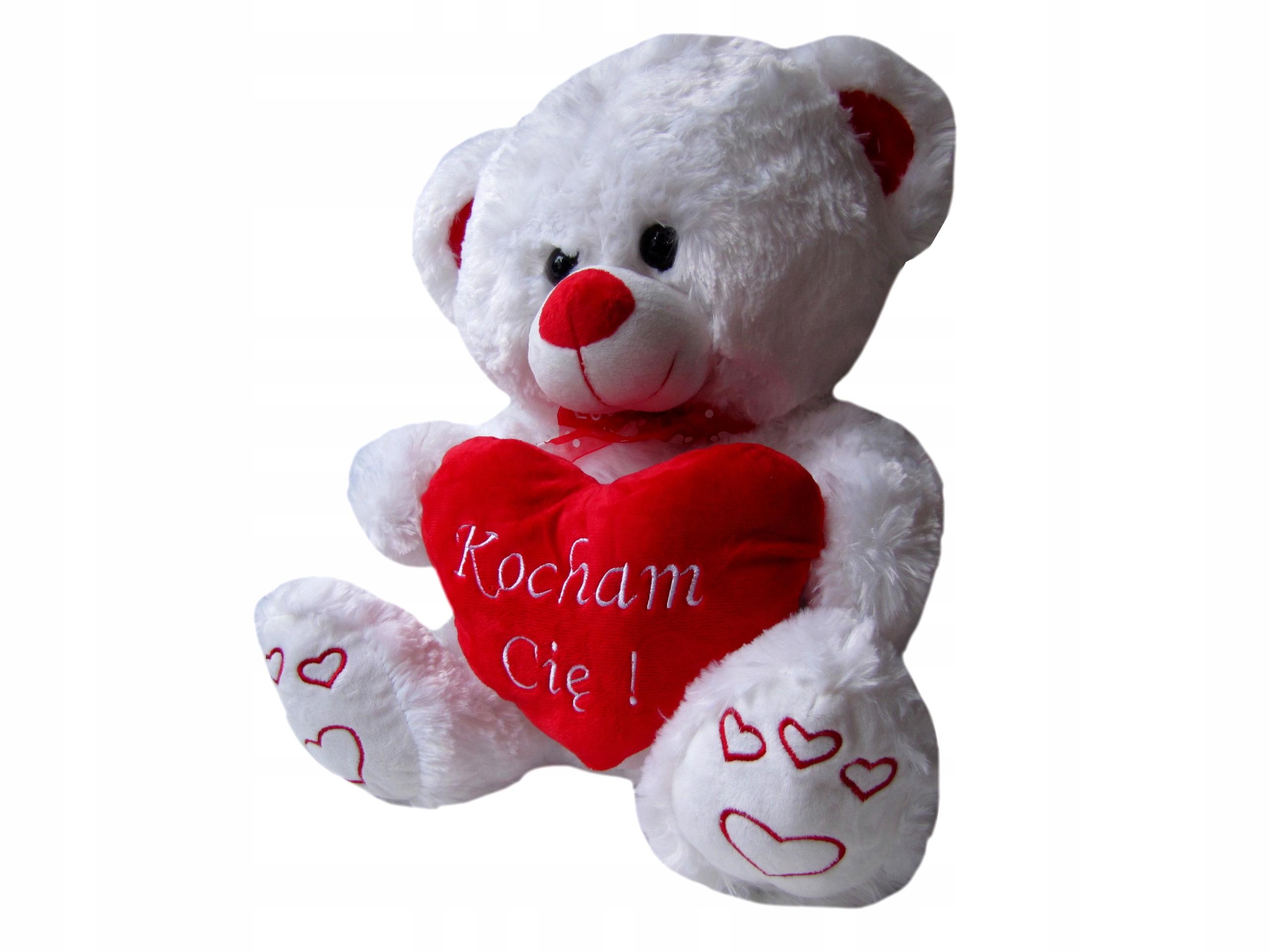 Duzy Mis Pluszowy Serce Kocham Cie Na Walentynki 7799297570 Allegro Pl