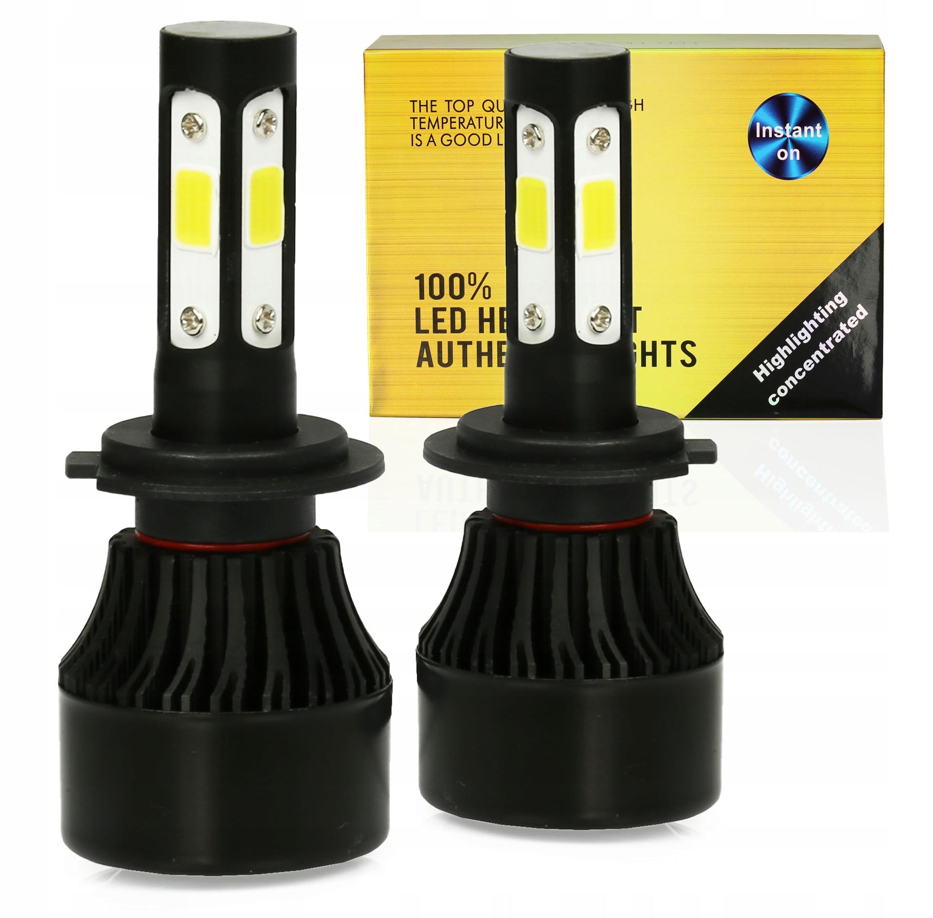 Светодиодные лампы H7 S4 360 ° COB 80 Вт 16000lm 4-СТОРОНН.