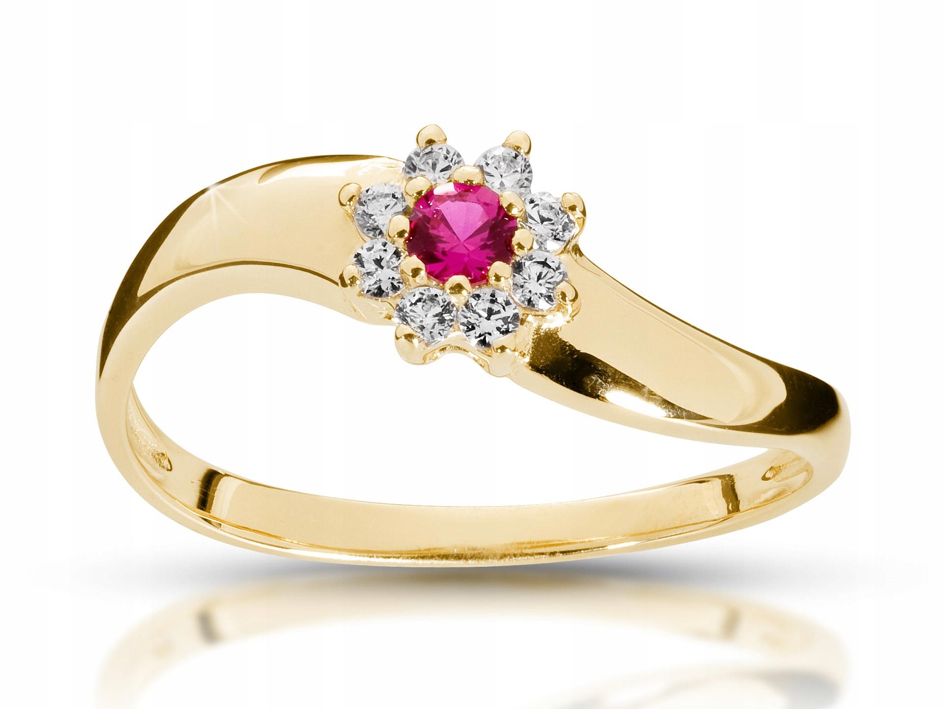 Zásnubný prsteň ruby a Diamanty 0,20 ct Vs