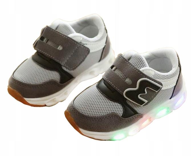 HIT Adidasy buty LED świecące roz 30 wkł 18 5cm