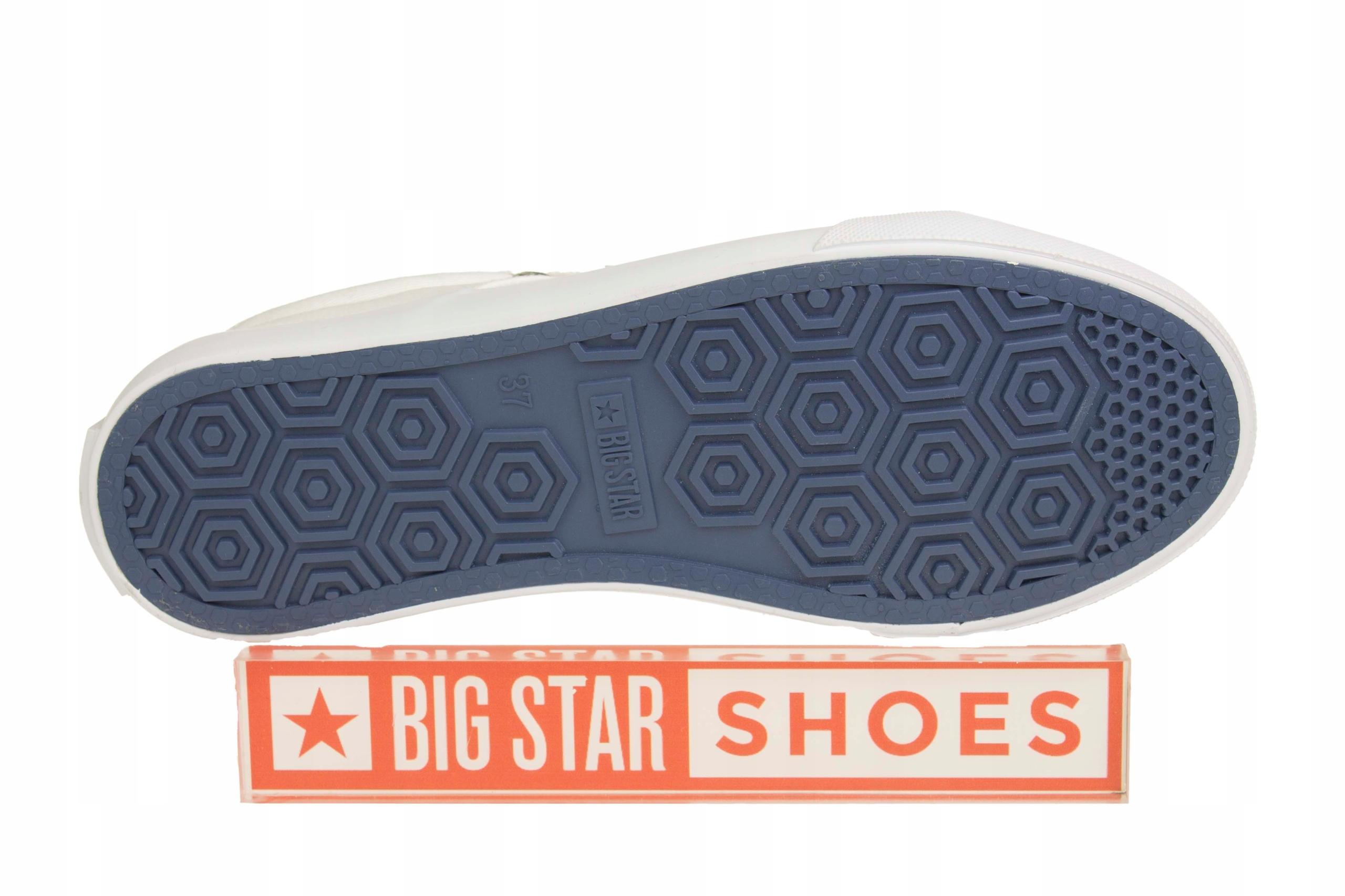 BIG STAR AA274511 TRAMPKI białe TKANINA S739 r 39