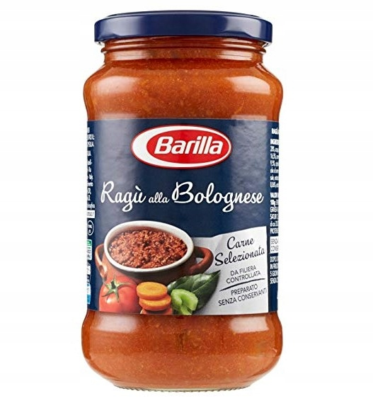 Barilla макароны соусом Рагу алла Болоньезе 400gr