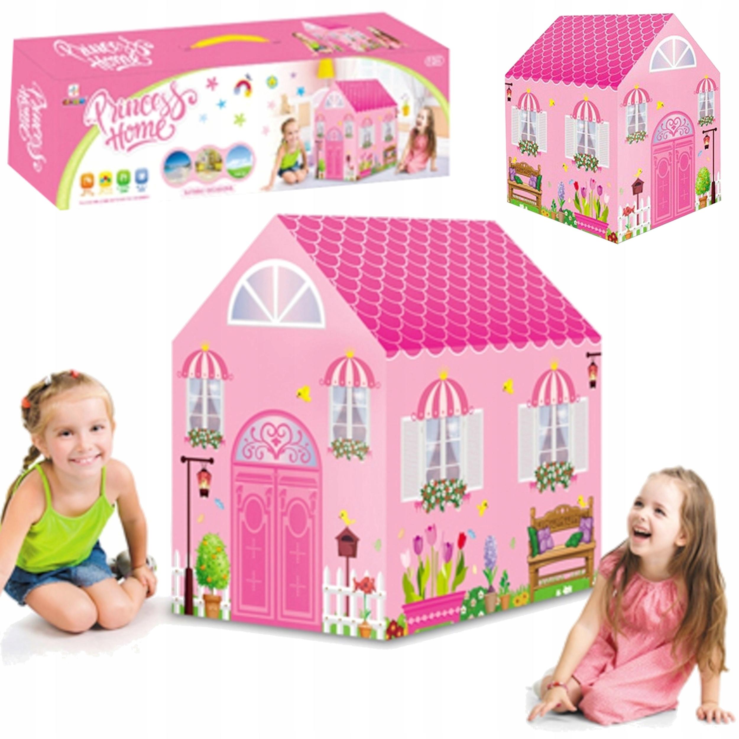 Namiot domek dla dzieci podłoga dwa wejścia 70B