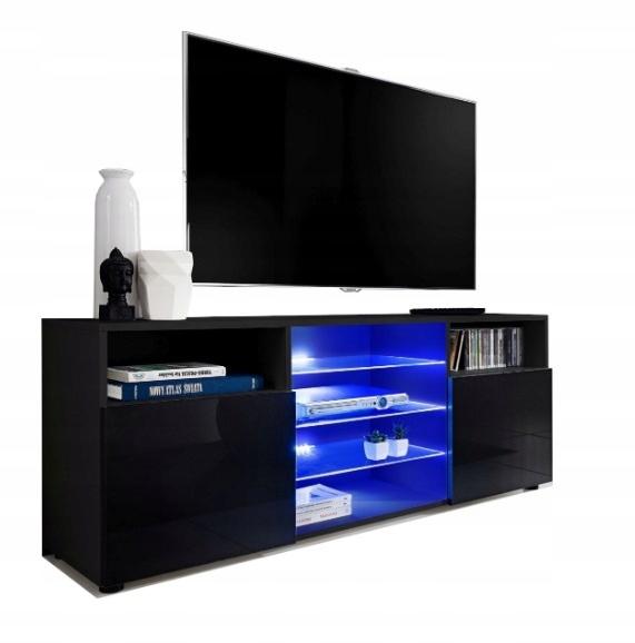 Тумба под ТВ в гостиную GLASS + LED GLOSS